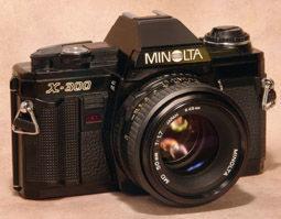 Camara reflex Minolta con 50 mm