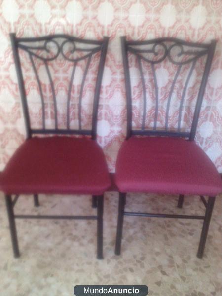 Vendo urgentemente preciosos conjuntos mesas y sillas de for Mesas y sillas de forja