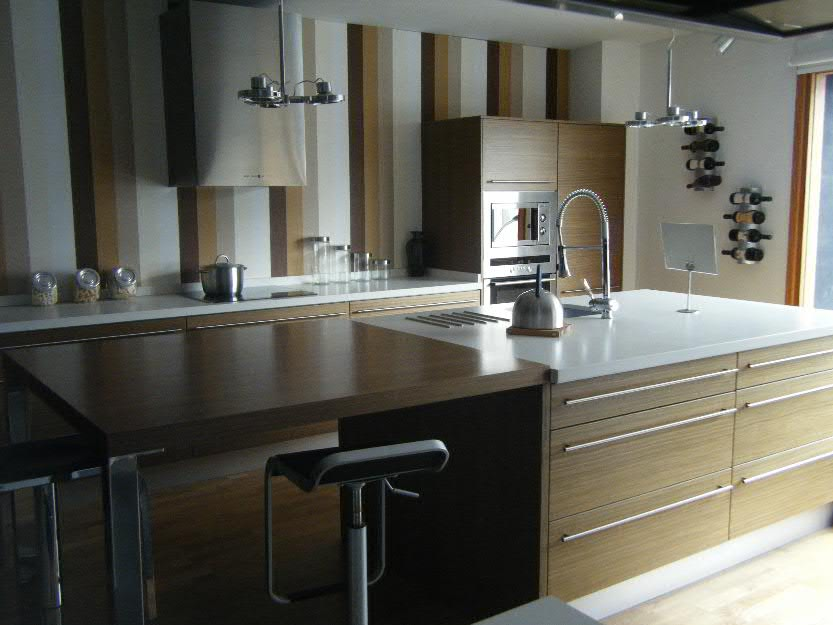 Cocina de exposicion completa en nogal mejor precio - Precio cocina completa ...