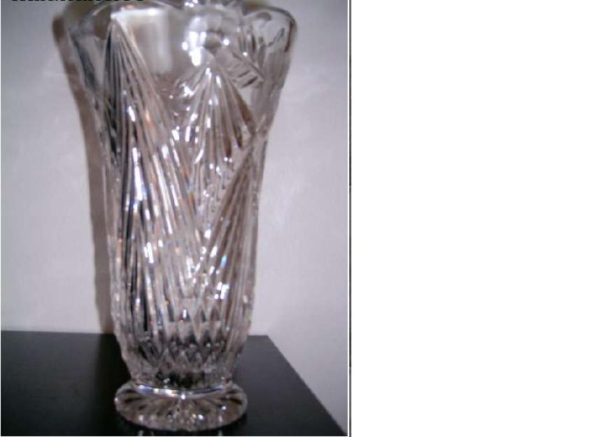 Jarron cristal tallado a mano mejor precio for Jarron cristal