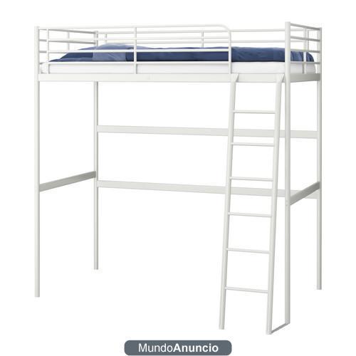 Cama alta y sill n cama de ikea 283863 mejor precio for Sillon cama individual ikea
