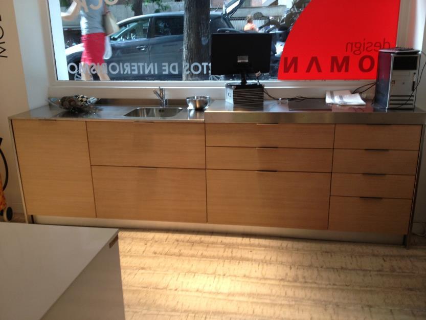 Muebles cocina madera orion exposicion mejor precio for Exposicion de muebles de cocina