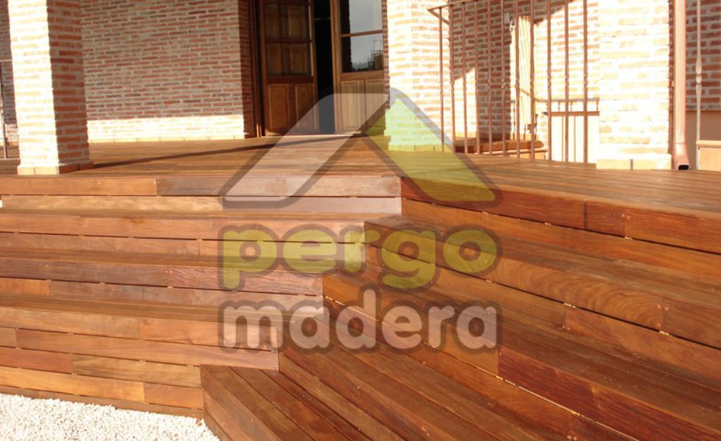 Terraza deck pergomadera estructuras mejor precio for Caseta jardin ergo
