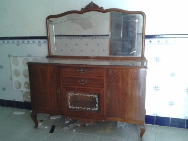 Aparador Em U Madeira ~ antiguo aparador de madera y chapa con espejo mejor precio unprecio es