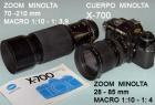 Minolta X - 700 y objetivos - mejor precio | unprecio.es