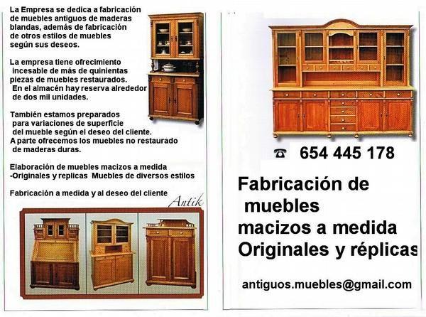 Muebles antiguos 678575 mejor precio for Compra de muebles antiguos madrid