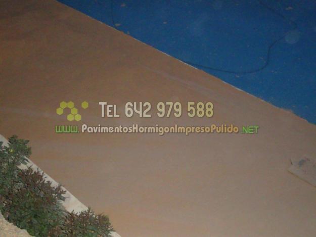 Pavimentos de hormigon impreso en Murcia