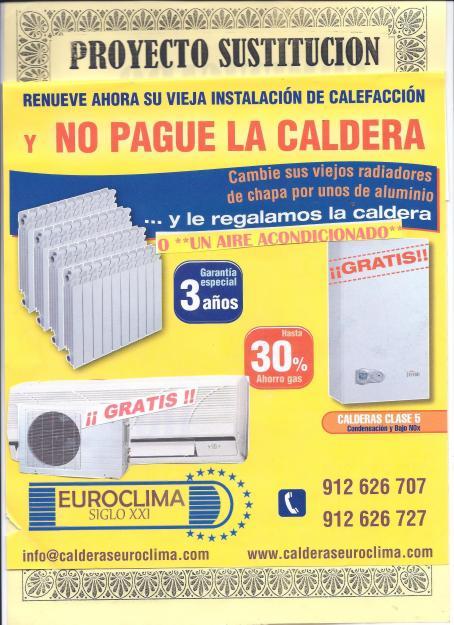 Por cambio de radiadores calefaccion regalo caldera de gas - Radiadores calefaccion gas ...