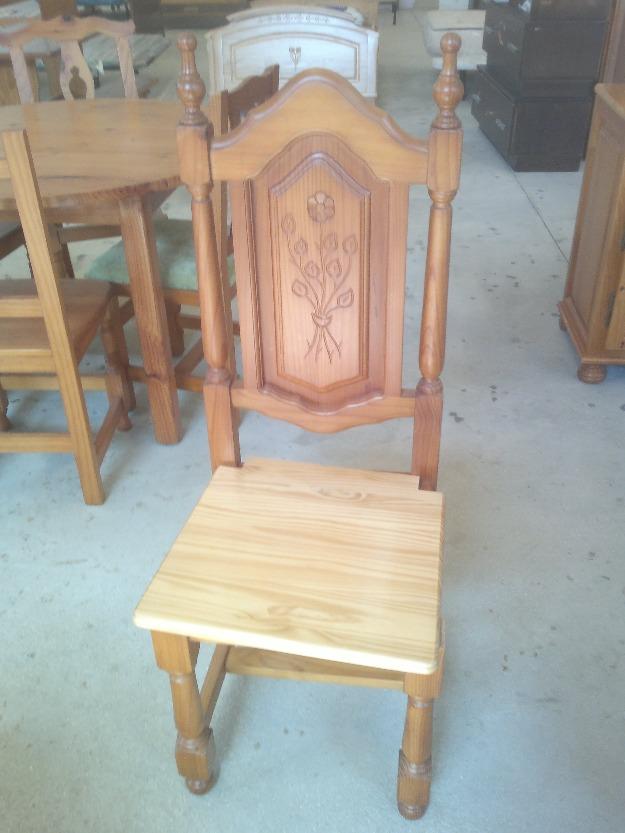 Sillas de madera 25 mejor precio for Sillas de madera precios