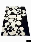 Alfombra Daisy Fondo Negro Flores Blancas 170x200 - mejor precio | unprecio.es