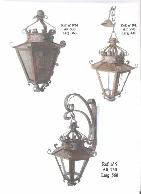 Forja lamparas rustico apliques lamparas techo sobrepi - Lamparas y apliques rusticos ...