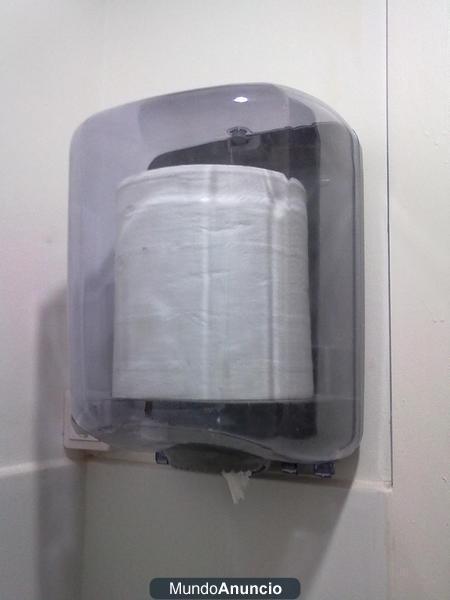 Dispensador de papel secamanos 2 rollos por cierre - Dispensador de papel ...