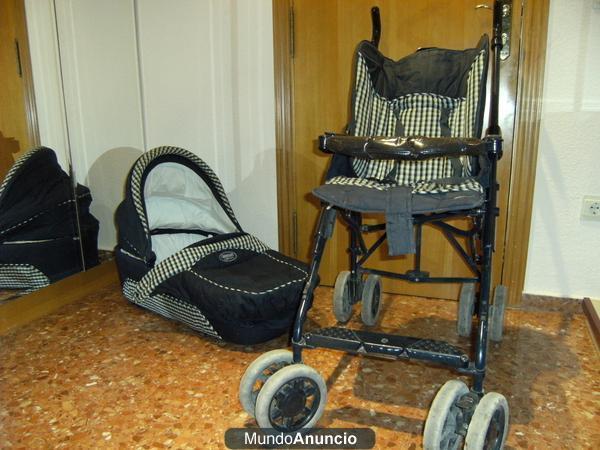 Carro con capazo y silla para coche mejor precio - Alquiler coche con silla bebe ...