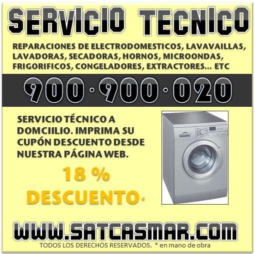 Rep. nodor en barcelona 900 90 10 75 reparacion de electrodomesticos