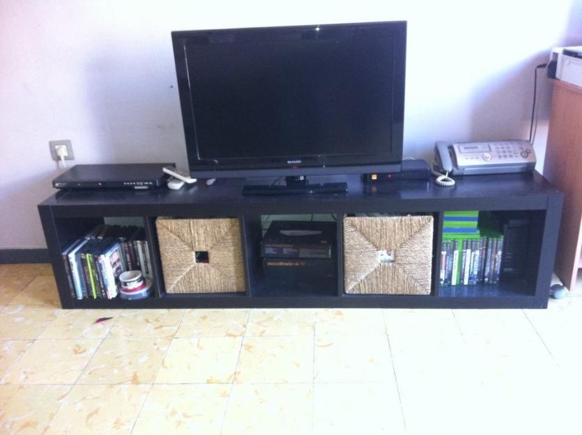 Mueble tv m s 3 estantes marrones 119650 mejor precio for Mueble 3 estantes