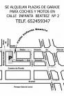 Alquilo plaza de garajen en zona Pedro Antonio Alarcon - Plaza Menorca - mejor precio | unprecio.es