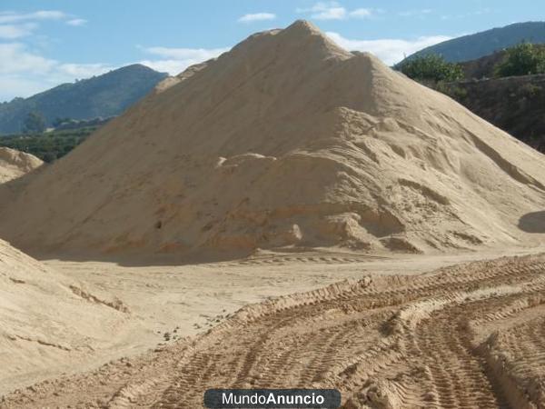 vendo arena de rio zahorra gravas silice