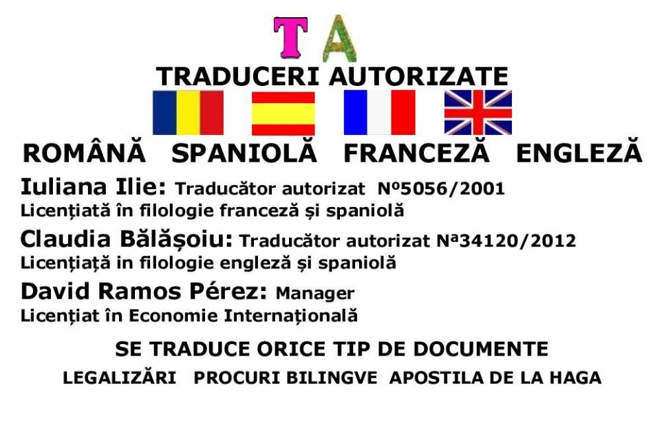 Traducciones autorizadas rumano-español (Arganda del Rey, Fuenlabrada, Madrid Capital)