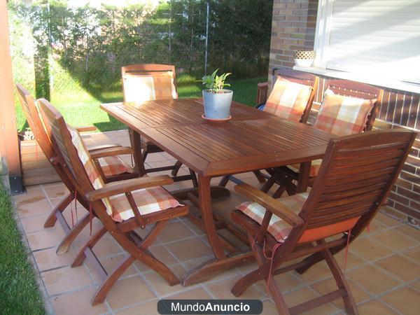 Mesa y sillas jardin teka mejor precio for Mesa y sillas plastico jardin