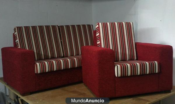 Sofa de 3 plazas mas sillon en rayas mejor precio for Sofa gran confort precios