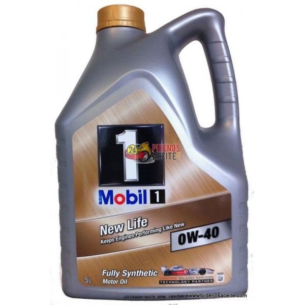 aceite mobil 1 0w40 new life 5 litros mejor precio. Black Bedroom Furniture Sets. Home Design Ideas