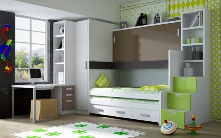 Muebles parchis habitaciones juveniles con literas for Habitaciones juveniles abatibles
