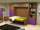 parchis* cama horizontal abatible con escritorio/cama con escritorio incorporado/MADRID - mejor precio | unprecio.es