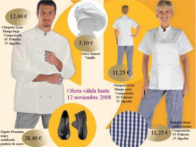 Oferta ropa de cocina chaqueta cocinero cocinera - Ropa de cocina ...