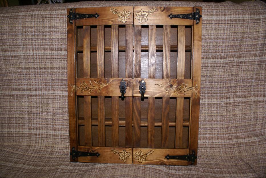 Especiero madera rustico