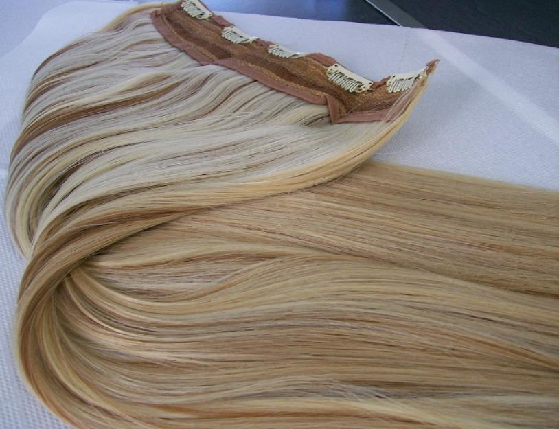 Extensiones de pelo cortina 23cm ancho 50cm largo dos tonos mejor precio - Extensiones cortina ...