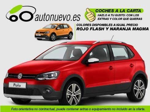 Volkswagen Cross Polo 1.6 TDI 105cv Manual 5vel. Rojo Flash, ó Naranja Magma. Nuevo. Nacional.