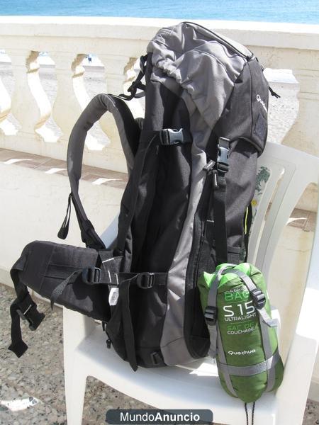 222e8709e vendo mochila quechua forclaz 70 regalo saco de dormir 243585 ...