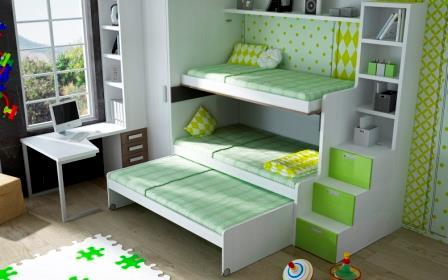 Muebles parchis ver literas escondidas triples camas for Muebles parchis