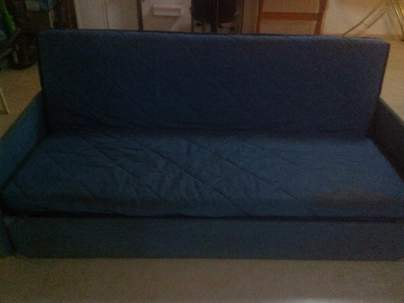 Sofa cama azul mejor precio for Precio sofa cama segunda mano