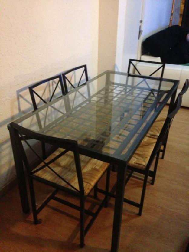 Mesa granas ikea casi nueva con 6 sillas por mudanza mejor precio - Sillas de jardin ikea ...