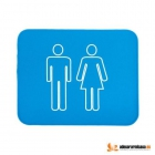 Set 2 Alfombras de baño neopreno azul - mejor precio | unprecio.es