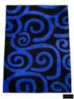 Fisura - Alfombra Abstracta Azul F. Negro 170x240 - mejor precio | unprecio.es