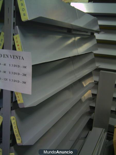 Venta De Estanterias Metalicas.Lote Estanterias Metalicas Galvanizadas Para Revistas Dvd