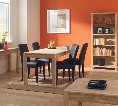 Mesa de comedor roble macizo basic 452562 mejor precio for Mesa comedor roble macizo