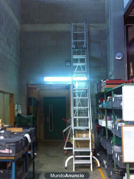 Escalera de aluminio de 5 metros 856563 mejor precio for Oferta escalera aluminio