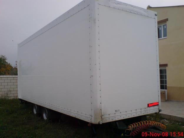vendo remolque furgon doble eje central año 2002, pma 16000kg
