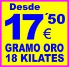 COMPRO - EMPEÑO ORO-ALICANTE ELCHE TORREVIEJA BENIDORM ELDA VILLENA-PAGO 17,50 EU/GR.18K - mejor precio   unprecio.es
