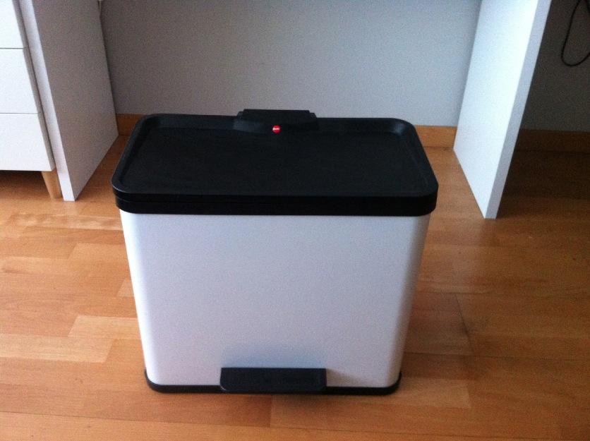 Cubo de la basura con pedal 3 contenedores 33 l color for Cubos de basura con pedal