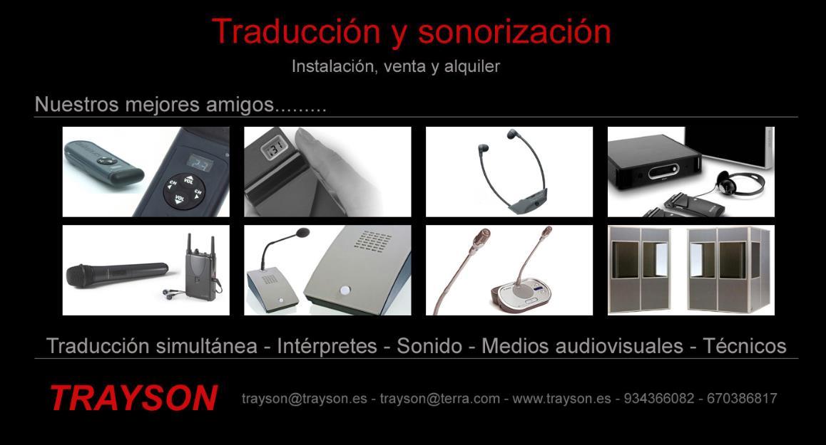 Traduccion simultanea y sonorizacion