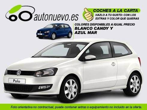 Volkswagen Polo Advance 1.6Tdi 90cv.DSG Blanco ó Negro. Nuevo.Nacional.