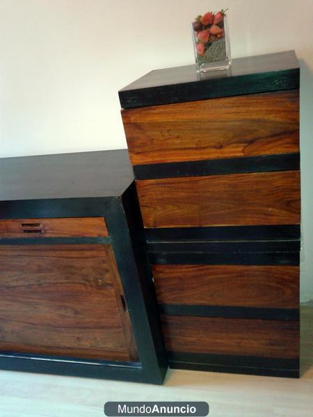 Cabecero matrim madera y dormitorio completo opcional for Precio dormitorio completo