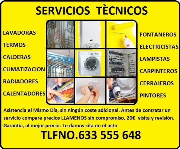 Reparación,instalacioness arreglos y servicios