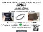 Se vende anillo compromiso oro blanco y brillantes SUAREZ - mejor precio | unprecio.es