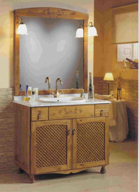 Mueble de ba o fabricado en pino muy alta calidad mejor for Muebles de pino precios