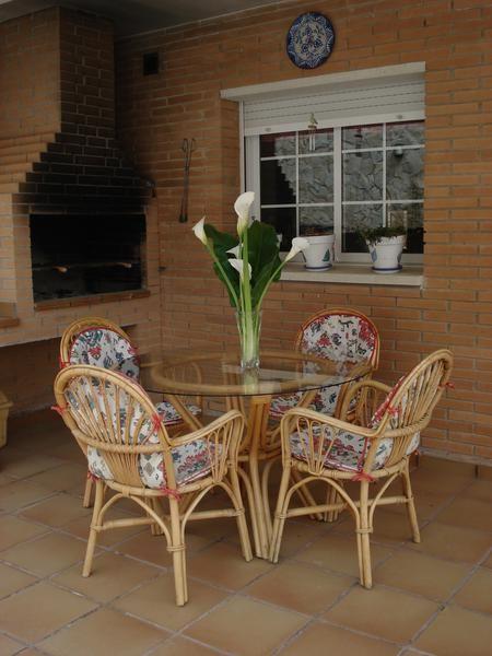 Juego de mesa y sillas de mimbre 628010 mejor precio - Mesas de mimbre ...